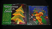 Christmas Music CD Lot : Christmas w/ the Stars & A Treasury of Christmas Carols