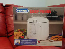 Delonghi Cool & Touch Deep Fryer 2.2 lb Oil Drain White - NEW IN BOX.