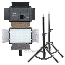 2X Godox LED 500 5600K White Video Light with Reflectors + 80cm Light Stands Kit