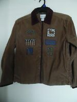 Womans Small Embroidered Corduroy jacket by Christopher & Banks~Brown