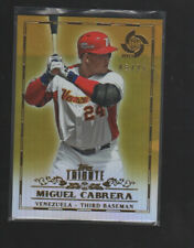 MIGUEL CABRERA 2013 TOPPS TRIBUTE WBC GOLD VENEZUELA CARD #1   /25