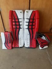 "Vaughn Velocity V6 1000 Senior Hockey Goalie Pads (Full Set) 35""+1"
