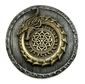 Viking decor Ouroboros dragon sculpture metal wall art norse mythology pagan art