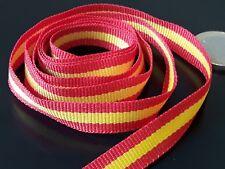 De 1 a 100 metros cinta tela ribbon BANDERA ESPAÑA Española 10mm (CINTA-05)