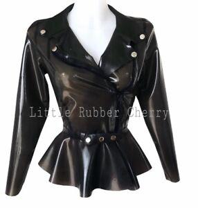 Latex Rubber Gummi Biker Jacket Size 12-14s