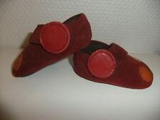 chaussures bébé en daim couleur bordeaux - marque IPPONFIRST- 16 - neuves