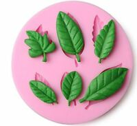 3D Leaf Shape Silicone Fondant Mold Baking Forms Soap Mold Cake Decoration Tools