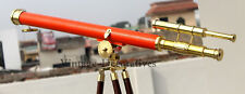 Nautical Double Barrel Telescope With Tripod Marine Working Scope Vintage Gift