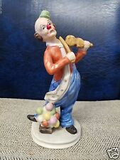Jasco Circus Clown Playing Music Violin Mandolin Ukulele Figurine Statue Pottery