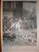 Crystal Palace Circus London Stag-Hunt print 1922