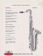 AD SHEET #2514 - 1970s BUESCHER MUSICAL INSTRUMENT -ARISTOCRAT TENOR SAX #1040