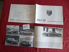 N°4651 / JAGUAR : catalogue XJ 6 .L .C / XJ 12  L.C       1973