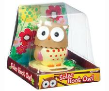 Solar Hoot Owl Toy Turns Head Back and Forth, Great Home Accent