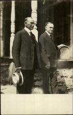 John Coolidge & President Calvin Coolidge c1920s Real Photo Postcard myn
