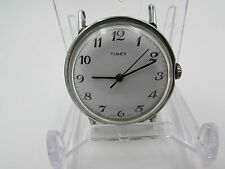 Vintage Men's Timex Mechanical Wind-Up Chrome Watch--WORKS!!