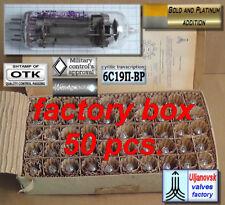 Powerful Triode 6C19P-VR  6S19P-BP OTK ink diamond Uljanovsk factory box 50pcs.