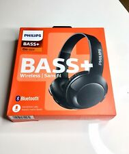 NEW Philips SHB3075BK/27 BASS+ Wireless Bluetooth On The Ear Headphones with Mic