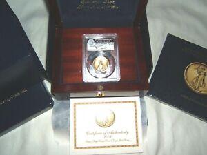 2009 Ultra High Relief UHR $20 gold PCGS MS70 John Mercanti w box, COA, and book