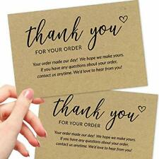 50 Large 4x6 Thank You for Your Order Cards - BULK Kraft Postcards
