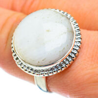 Large White Scolecite 925 Sterling Silver Ring Size 9 Ana Co Jewelry R50615F
