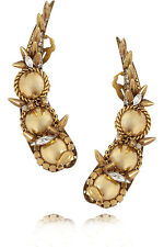 **ERICKSON BEAMON** Velocity Gold Plated Swarovski Crystal Earrings