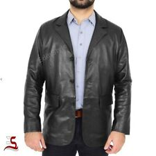 Men's Genuine Sheep Skin 3 Button Classic Blazer Soft Light Weight Leather Coat