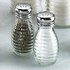 Beehive Glass Salt and Pepper Shakers with Stainless Steel Tops (Set of 2), New