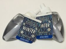 Lot 2 Bath & Body Works Winter Wallflowers Home Fragrance Refill Bulb 0.8 Oz Oil