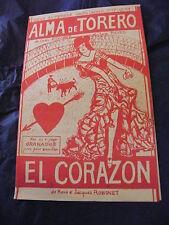 Partitura Alma de Torero El corazon de Juan Silvarez y Luis Soñando Paso dobles