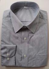 EX m&s Corte Normal Algodón Camisas Gris, azul, burdeos rayas NUEVO SIN ETIQUETA