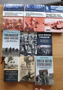 Bücherpaket, 9 Teile, Bücher 2. Weltkrieg, Ostfront, sehr guter Zustand