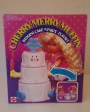 VINTAGE CHERRY MERRY MUFFIN WEDDING CAKE N PARTY PLAYSET NEW IN BOX