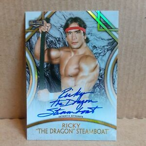"""2018 Topps Legends of the WWE  RICKY """"The Dragon"""" STEAMBOAT Auto 116/199 NWA/WWF"""