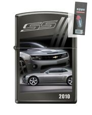 Zippo 4151 Chevy Camaro 2011 Black Ice Chrome Finish Lighter + FLINT PACK