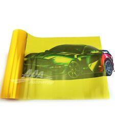 """12""""x48"""" Gloss Golden Yellow Smoke HeadLight Tailight Fog light Tint Film Sheet*"""