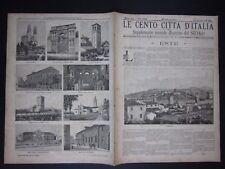 1894 ESTE Le Cento Città d'Italia Sonzogno Editore molte illustrazioni