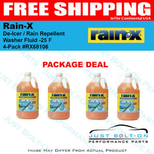 Rain-X With De-Icer / Rain Repellent Washer Fluid -25 F Degrees (4 PACK) RX68106