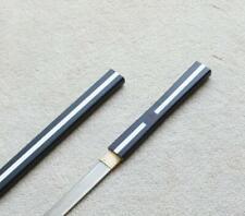 """S1824 NARUTO SASUKE KUSANAGI SWORD WHITE STRIP ON BLACK BRUSH HABUCHI EDGE 40.7"""""""