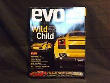 EVO MAGAZINE ISSUE 54 APRIL 2003. LAMBORGHINI GALLARDO. FERRARI 360 STRADALE.