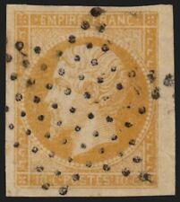 n°13A bord de feuille, 10c bistre, oblitéré étoile de Paris - SUPERBE