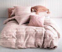 KAS Balmoral Blush Linen/Cotton Quilt Cover Set