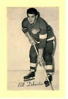 1944-63 Beehive Group 2 Bill Delvecchio Red Wings #160B