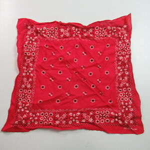 VINTAGE Fast Color Bandana All Cotton Red Bandanna Handkerchief