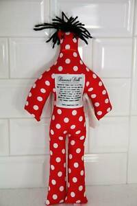 """12"""" Red White Polka Dot Classic Original Dammit Doll with tag"""