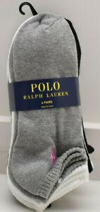 Polo Ralph Lauren Women's 6 Pair No Show Socks New! NWT