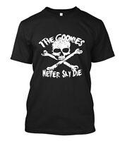 New The Goonies Never Say Die Logo Short Sleeve Men's Black T-Shirt Size S-5XL