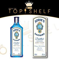 personalised Bombay Sapphire Gin bottle label birthday any occasion
