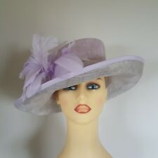 Ladies Wedding Hat Races Mauve / Silver Metallic by Jacques Vert - Free Postage