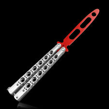 Metal Trainer Tool Practice Training BALISONG Butterfly Dull Knife Sports U053