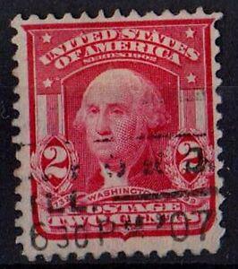 US 1903 Scott #319 George Washington first President 2 Cents Red STAMP